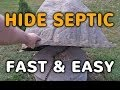 How To Hide A Septic Tank Cover Fast - Fake Rock Septic Cover Lids