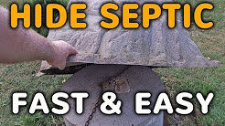how to hide a septic tank with a decorative septic cover youtube - Garden Ideas To Hide Septic Tank