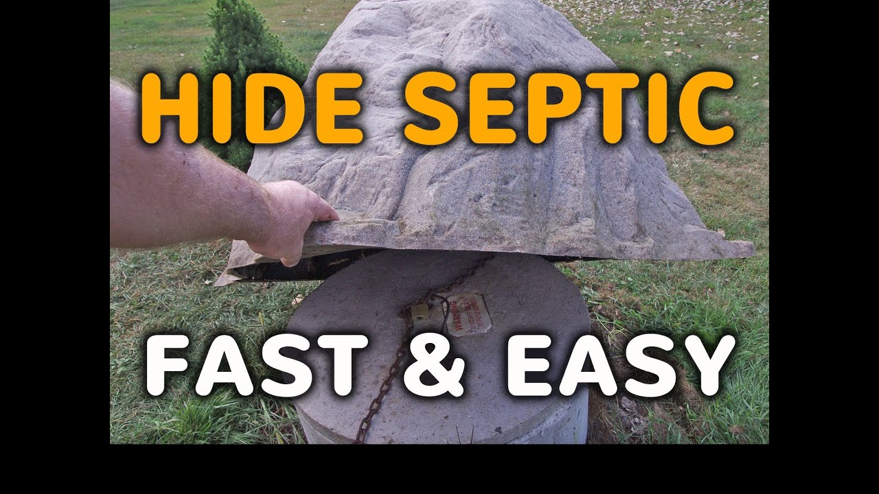 How To Hide A Septic Tank Cover Fast   Fake Rock Septic Cover Lids   YouTube