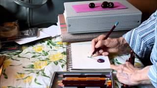Marie Mandolin ~  Colour Pencil Tutorial # 43 All Ages.