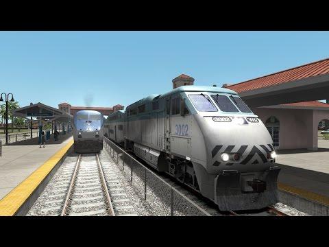 TS2015: Amtrak & Tri-Rail Trains Race on the Miami - West palm Beach