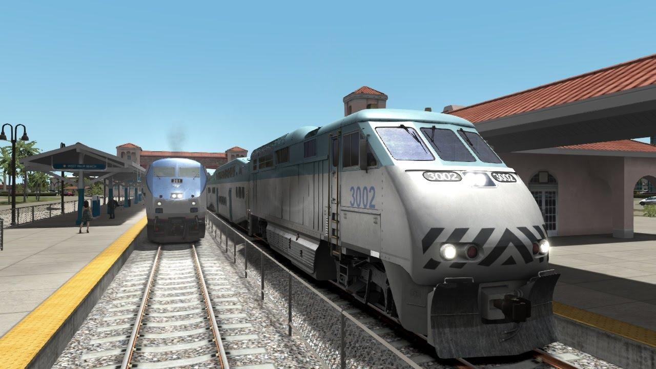 Ts2017 Amtrak Tri Rail Trains Race On The Miami West Palm Beach You