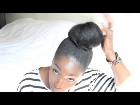 NATURAL HAIR TALK: Heat- Free Straight Hair With African Threading & Banding