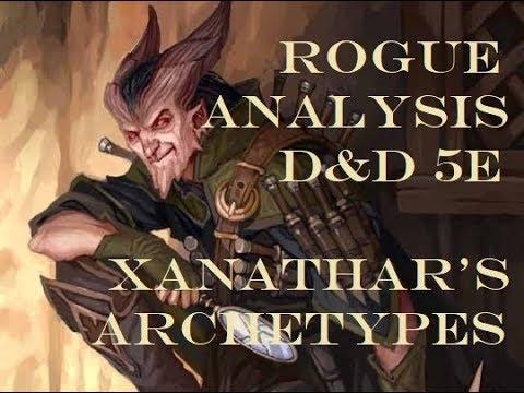 Rogue Analysis D&D 5th edition Xanathar's Archetypes