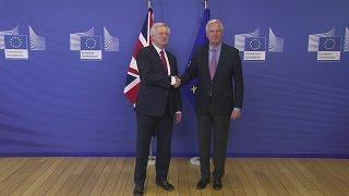 David Davis visits Brussels as Brexit negotiations begin