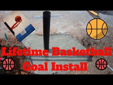 Lifetime Basketball Goal In Ground Install