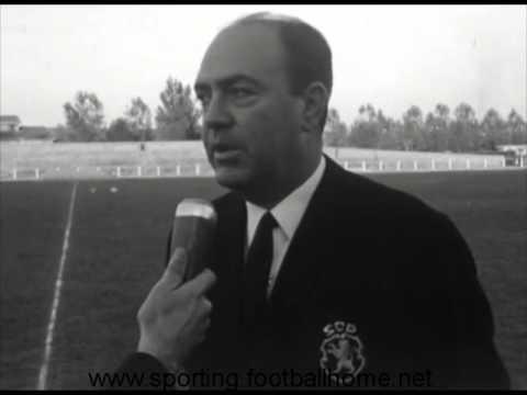Reportagem do treino do Sporting antes de defrontar o Bordeaux em 1965/1966 Taça das Cidades com Feira