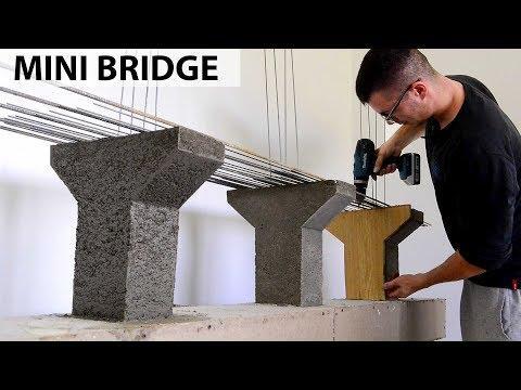 Concrete Mini Bridge Model || Mini Construction Channel
