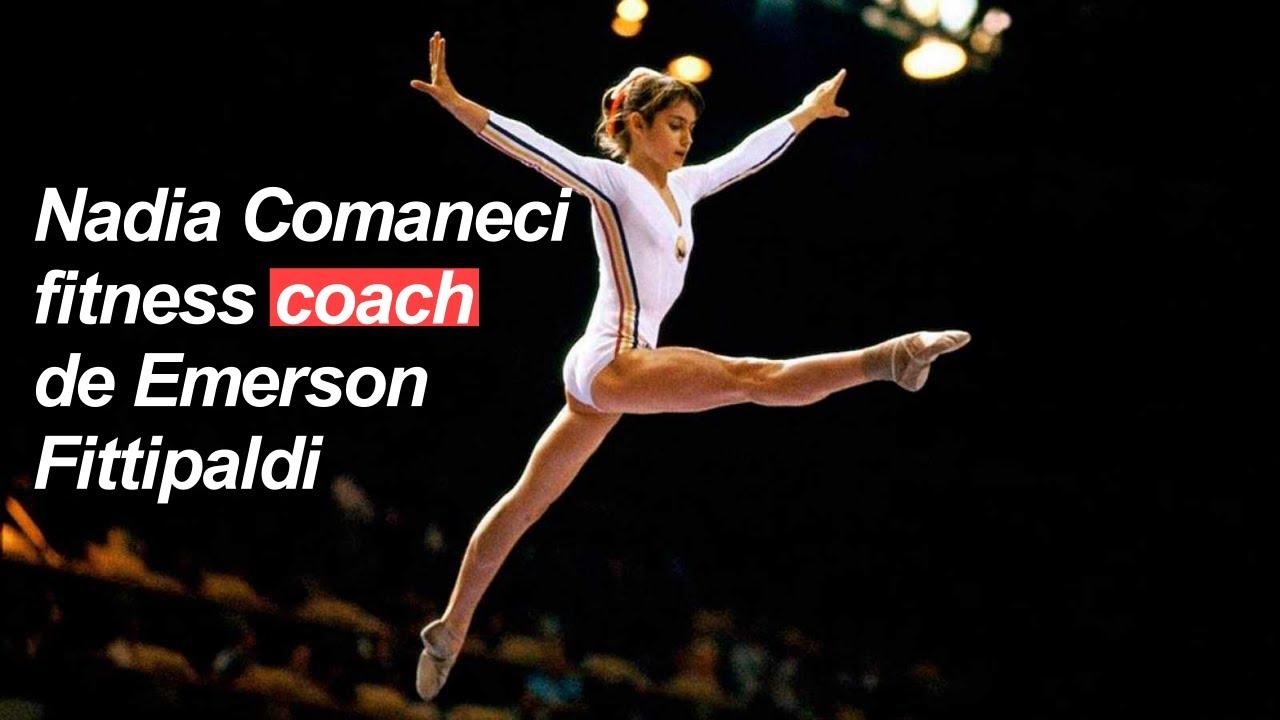 Nadia Comaneci 58, fitness coach de Emerson Fittipaldi 73  131 años de grandeza deportiva