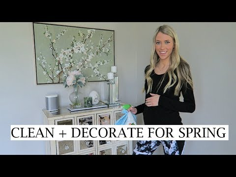 CLEAN AND DECORATE WITH ME FOR SPRING/EASTER! | ERICA LEE