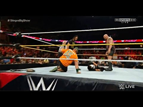 John Cena saves Sting from Seth Rollins & Big Show - WWE Raw September 14 2015