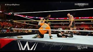 John Cena saves Sting from Seth Rollins & Big Show - WWE Raw September 14 2015