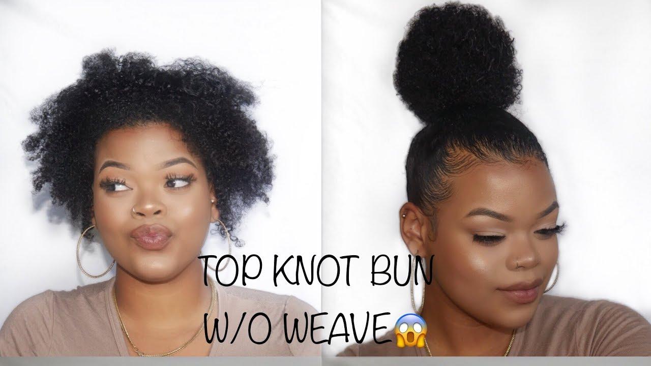 Natural Hair Styles Buns: Top Knot Bun On Short Natural Hair