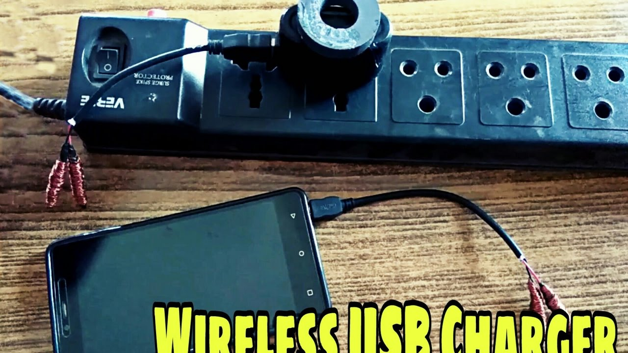 How To Make Wireless USB Charger (diy) - YouTube