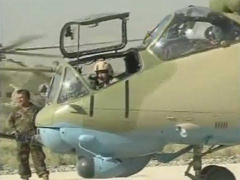 """Mi-35 """"Hind E"""" Attack Helicopters in Afghanistan"""