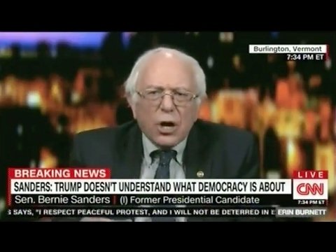 "Thumbnail: Bernie Sanders Calls CNN ""Fake News"" - And His Feed Is Cut Off"
