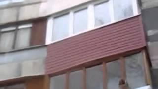Наружная обшивка балкона сайдингом в Москве. Правильные окна косметический под ключ йул15