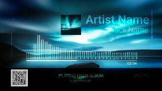 Audio Spectrum / Music Visualizer Concept S6 (Northern Lights)- FREE After Effects Template Download