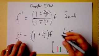 Doppler Effect for Light, Red Shift, and Accelerated Expansion of the Universe | Doc Physics
