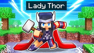 Thunder STRIKES as LADY THOR In Minecraft!