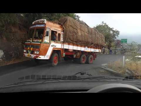 Crossing the treacherous Dimbam ghats in my Tata Nano