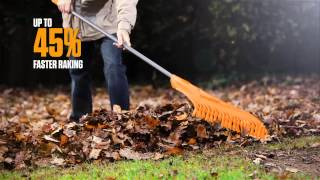 Raking. Reinvented. Clog Free® and rakes up to 45% faster than a standard rake.