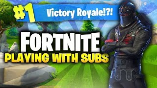 Playing With Subs|Fortnite|Meeting new People-Tfue, Fgteev, Mr Beast, Ninja, Dantdm, Pewdiepie, Tfue