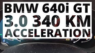 BMW 640i GT 3.0 340 KM (AT) - acceleration 0-100 km/h