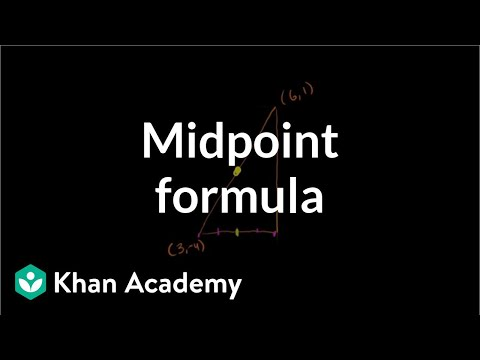 Midpoint formula | Analytic geometry | Geometry | Khan Academy