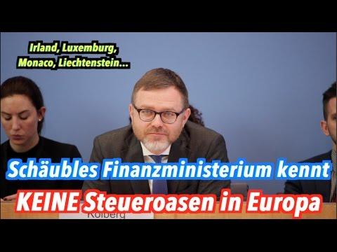 Das Bundesfinanzministerium kennt KEINE Steueroasen in Europa