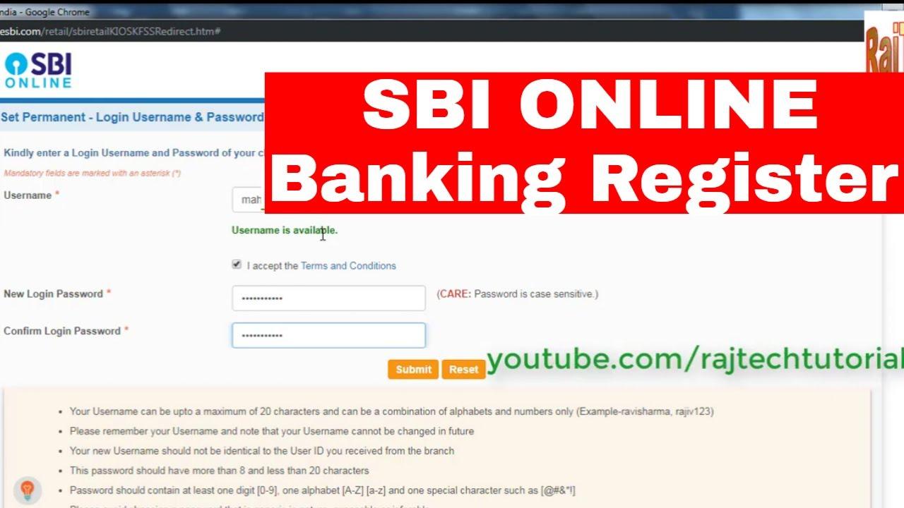 register sbi internet banking