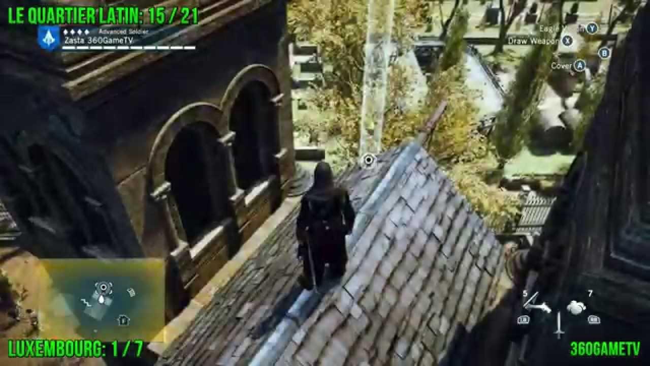Assassins Creed Unity All Cockade Locations Le Quartier Latin District Tricolore Guide Part6 Youtube