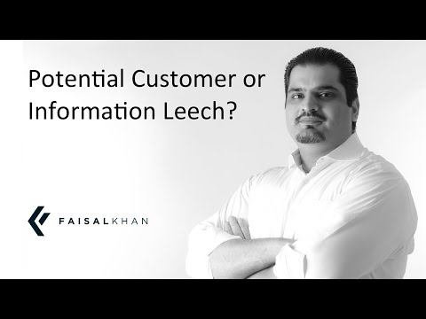 [142] Potential Customer or Information Leech? Don't be inconsiderate!