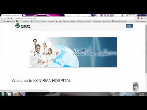 HOSPITAL MANAGEMENT Website Bsc - IT ASP.NET project 2015