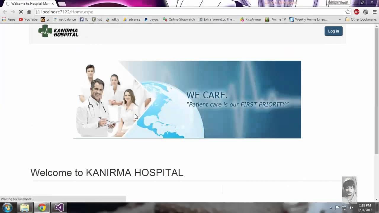HOSPITAL MANAGEMENT Website Bsc - IT ASP NET project