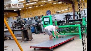 CNC Plasma under table sheet metal storage rack cart