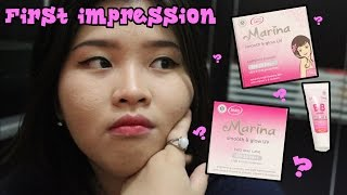 First Impression Marina Smooth amp Glow UV Two Way Cake Compact Powder BB Cream