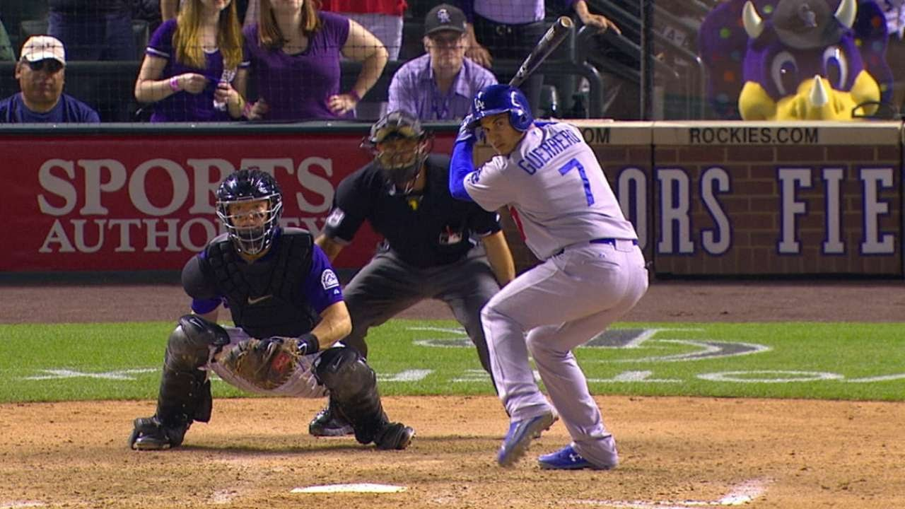 Dodgers pull away in the ninth to win slugfest against the Rockies