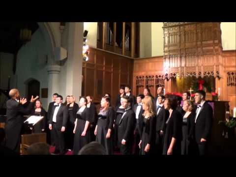University of Southern Maine Chamber Choir sings Elijah Rock