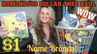 HUMONGOUS Dollar Tree Haul | So Many Amazing Items| Bonus Haul| Ideas & Trying Products | July 22
