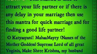 Marriage Mantra for Girls and Boys