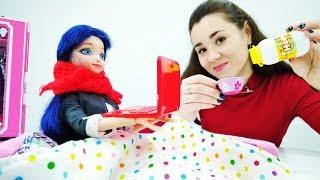 Леди Баг, видео для детей. Лечим простуду: Что будет, если съесть много мороженого?