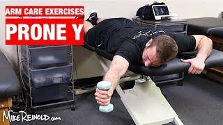 Prone Shoulder Y Exercise - Arm Care Shoulder Program