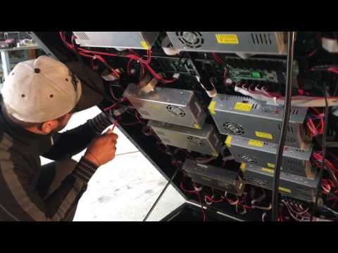 Fabrication et installation d'écran géant led 1600*2880 mm P5 mm Outdoor