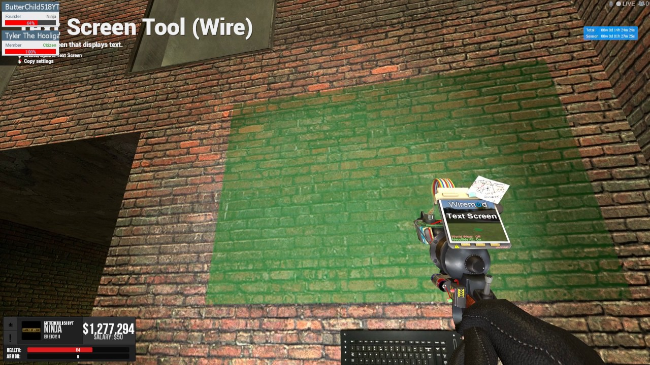 Wire Tools Gmod Center Air Compressor Wiring Diagram Makita Mac2400 Hitachi Ec12 How To Make A Wiremod Changeable Text Screen In Youtube Rh Com Garrys Mod
