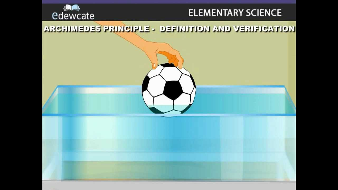 archimedes principle The archimedes principle is easiest to understand and apply in the case of entirely submersed objects in this section we discuss a few relevant examples.
