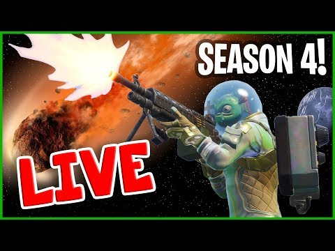 NEW Fortnite Season 4 - Fortnite Victory Royale W/ Mini Ninja On Live Stream!