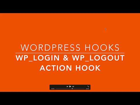 WordPress Action Hooks wp login wp logout Part-30 Example