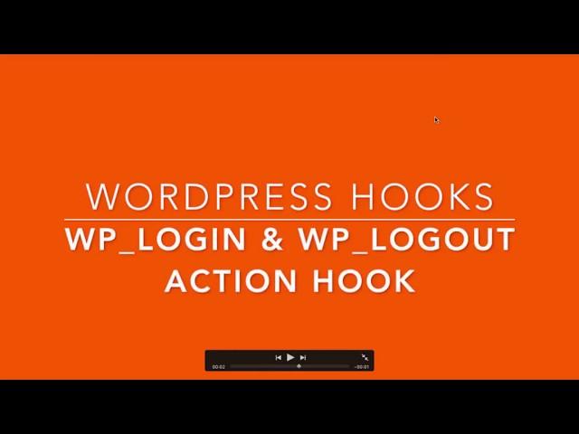 WordPress Action Hooks wp login wp logout Part-30 Example