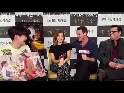 Beauty and the Beast Cast Interview Part 1 - Emma Watson,Luke Evans,Josh Gad via V LIVE(South Korea)